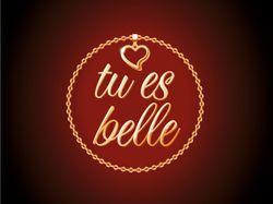 """Логотип  """"tu es belle"""" - ювелирные изделия"""