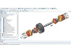 Компас-3D - Крановое колесо - 3d