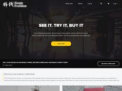 Дизайн интернет магазина SingleFrontline