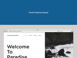 Fresh Festival Island website design.