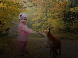 Создаем сказочный коллаж с лисичкой