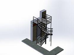 Винтовая лестница уличная