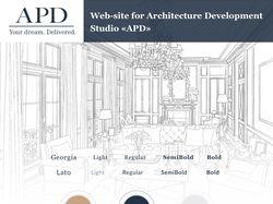 Дизайн сайта для архитектурной студии APD