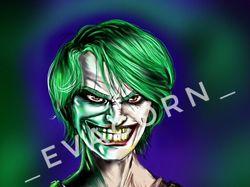 Парень в образе Джокера