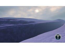 заснеженный каньон