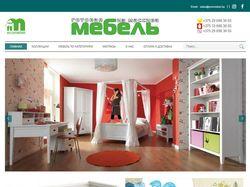 Сайт магазина мебели из массива