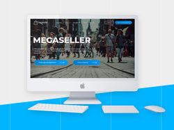 Дизайн главной страницы сайта Megaseller