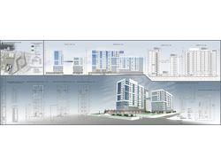 Визуализация здания по чертежам