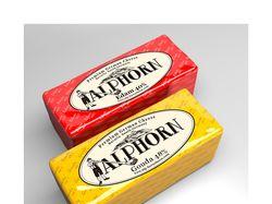 Дизайн этикетки сыра Alphorn (Hoogwegt Cheese)