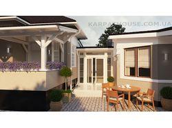 Экстерьер частного дома. 3-D визуализация