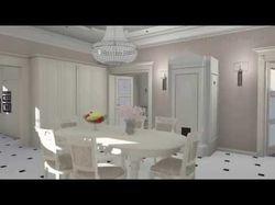 Дизайн-проект интерьера дома. 3-D видео-анимация