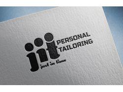 логотип для студии индивидуального пошива JIT. ч\б