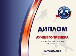 Диплом для Федерации хоккея СПб