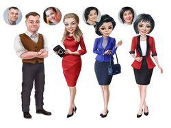 Персонажи для сайта, соцсетей по референсу (фото)