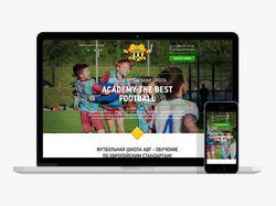 Адаптивная верстка лендинга soccerschool.ru + wp