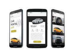 Дизайн интерфейса мобильного приложения Car Rental