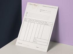 Дизайн счёт-фактуры для салона свадебных платьев
