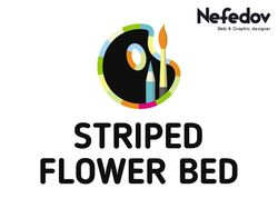 Logo Design for Striped Flower Bed