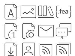 Набор пиктограмм для новой версии сайта