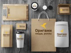 """Фирменный стиль для кафе """"Оригами"""""""
