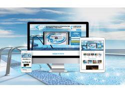 Сайт визитка Салона бассейнов