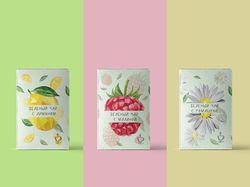 Серия упаковок чая