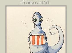 Серия открыток динозаврик Диппа