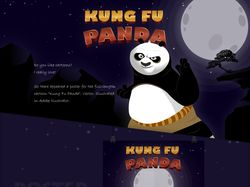 "Poster for the cartoon ""Kung Fu Panda"" Illustrator"