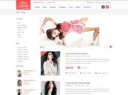 Верстка страницы ленты товаров женского магазина