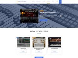 Редизайн сайта musicmanuals.ru