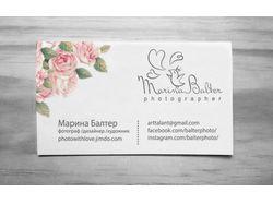 Логотип и фирменный стиль для фотографа.