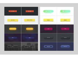Дизайн кнопок для сайта.