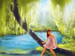 Illustration girl digital art