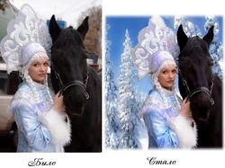 Обработка фото, замена фона