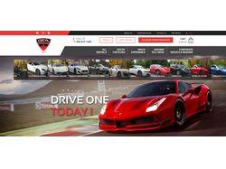 Верстка сайта по аренде Элитных авто