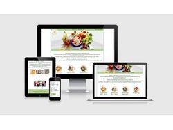 Создание сайта по доставке здоровой еды