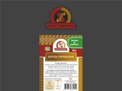 """упаковка и наклейка для круп """"Крестьянин"""""""
