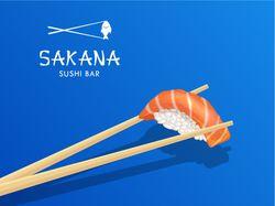 sushi restaurant logo&illustration