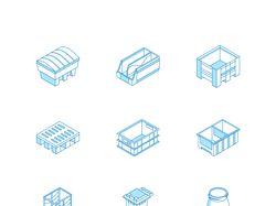 Иконки для сайта по продаже емкостей. Изометрия