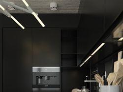 Black Apartment, 53 m