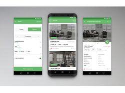 Приложение по поиску недвижимости на Android