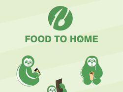 """Маскот и логотип """"Food to Home"""""""