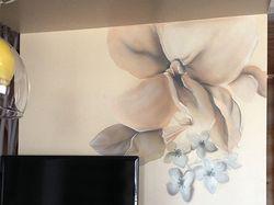 роспись стены в кухне