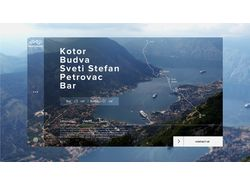 Дизайн основной страницы тура по Черногории