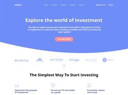 Лэндинг для инвестиционной компании