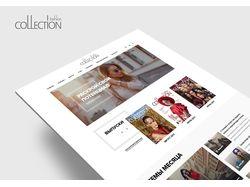 "Сайт для журнала о моде ""Fashion Collection"""