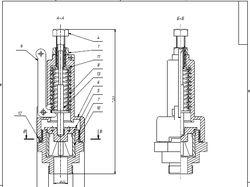 Клапан предохранительный (сборочный чертеж)
