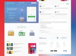 Дизайн сайта МФО - Click Finance