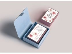 Фирменные визитки для художественной школы.