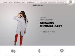 дизайн интернет-магазина одежды MINIMAL
